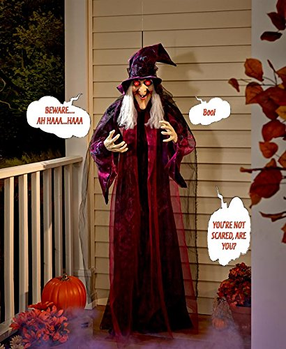 Life Size Hanging Animated Talking Witch