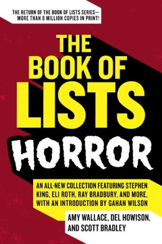 The Book of Lists: Horror by Amy Wallace
