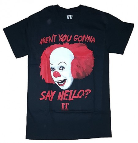 IT The Movie Aren't You Gonna Say Hello? Black Graphic T-Shirt