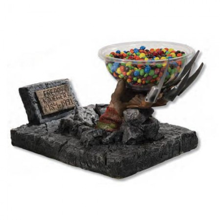 Freddy Krueger Grave Hand Candy Bowl Holder
