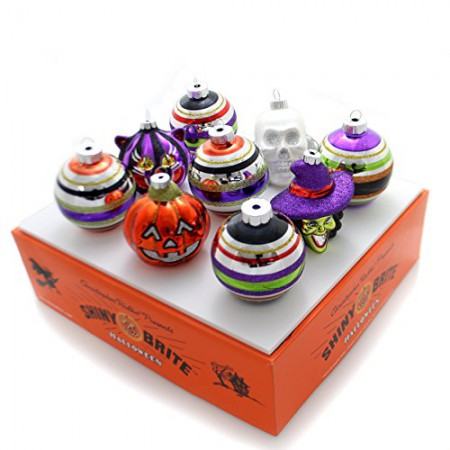 Halloween Rounds and Figures Ornament - Set of Nine