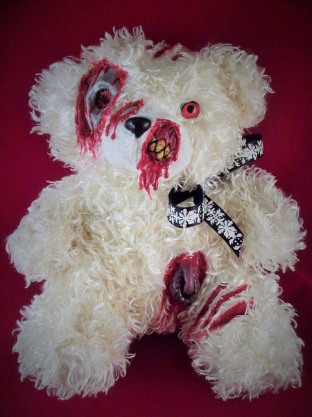Creepy Cute Plush Zombie Teddy Bear