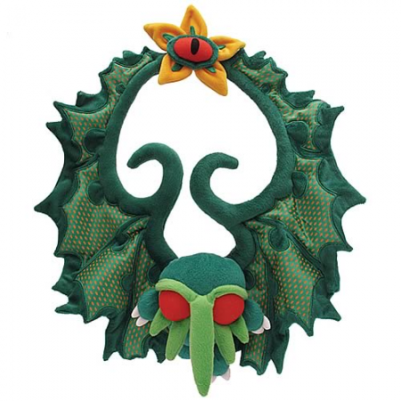 Cthulhu Plush Christmas Wreath
