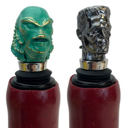 The Creature and Frankenstein Bottle Stopper Set