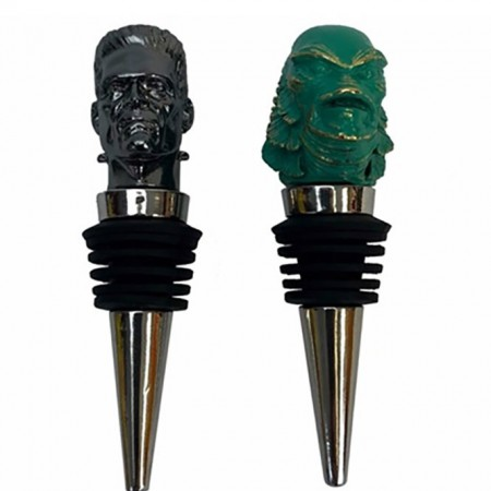Universal Monsters The Creature and Frankenstein Bottle Stopper Box Set