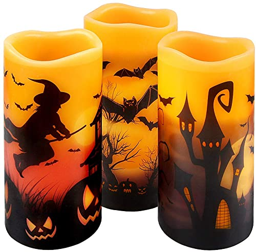 Halloween Flickering Flameless Candles