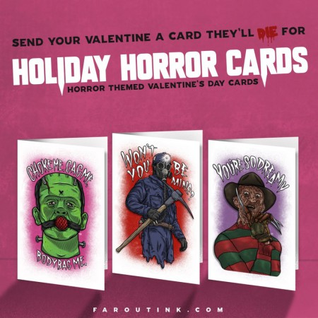 Horror Themed Valentine's Day Cards